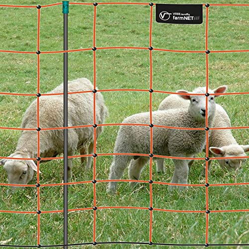 Malla eléctrica para ovejas farmNET, Rollo de 50m de Longitud y 90cm...