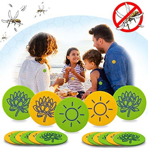Janolia Repellent Zanzare, 32 Sticker Naturale Antizanzare, Materiale Senza DEET e Nessun...