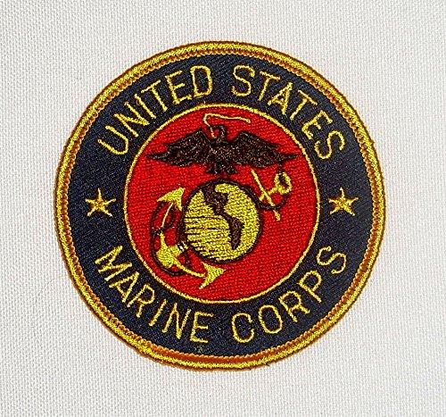 USMC Marine Corps Insignia Patch ca.7,5 cm US Army Marines Seals CBI Vietnam Aufnäher Abzeichen Stoffabzeichen NEU