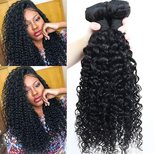 IFLY tissage brésilien court bouclé Lot de 3 tissage bresilien boucle cheveux naturel bresilienne vierges de tissages Lot de 70 g/Extensions de cheveux humains 210g total(10 10 10pouces)