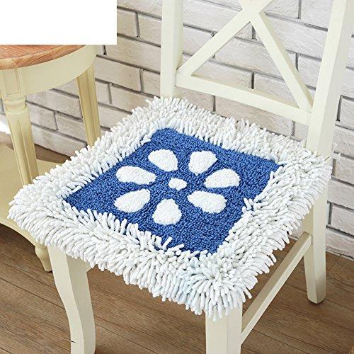 OSHDKSLDS Pastorale Chenille esszimmer Stuhl Kissen plüsch Stuhl mat lehrstuhl Pads dickere Student weißen Kragen sitzkissen-B 45x42x6cm(18x17x2) -