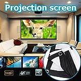 TOPmountain Schermo da 60 Pollici Proiettore Proiettore per Tende da Proiezione Schermo per Proiettore Home Cinema Pieghevole 16: 9