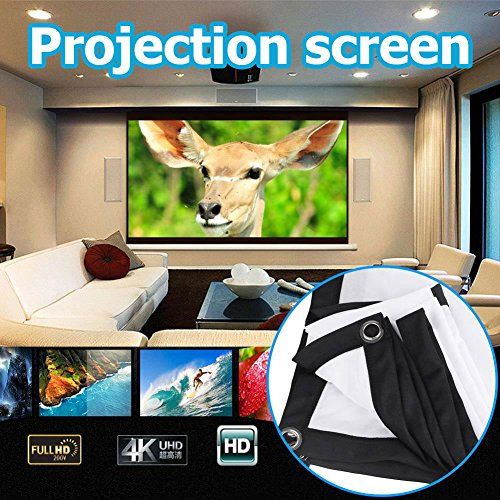 Projection Curtain Portable 16 9 72 Inch KTV Squares Projector Screen Curtain