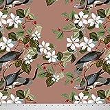 Soimoi 42 Zoll breit Vogel und Blumendruck-55 GSM