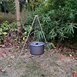 Zerich Camping Tripod Campfire Cooking Dutch Oven Tripod Portable Outdoor Picnic Foldable Cooking Tripod Barbecue Accessory Cooking Lantern Tripod Hanger with Storage Bag for Camping Activities#7824 14