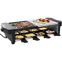 Leogreen - Appareil à Raclette 8 Personnes, Appareil à Raclette Multifonction 3 en 1, Raclette Grill 1200W, Inclus : 8…