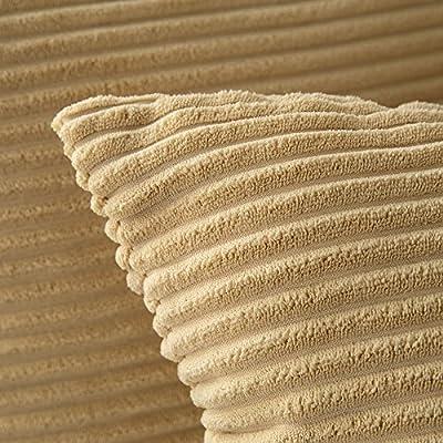 Miulee Corduroy Soft Solid Decorative Square Throw Pillow Covers Cushion Case for Sofa Bedroom Car 18 * 18 inch,45 x 45 cm von Miulee bei Gartenmöbel von Du und Dein Garten