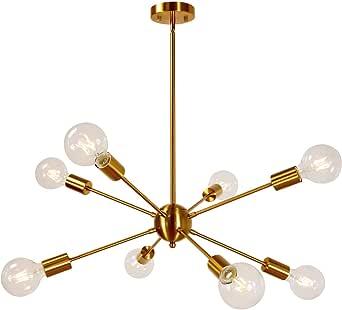 8-licht Sputnik Kronleuchter Semi Flush Mount Deckenleuchte Nordic Kreativ Deckenlampe F/ür K/üche Badezimmer Esszimmer Flur Dekor Leuchte