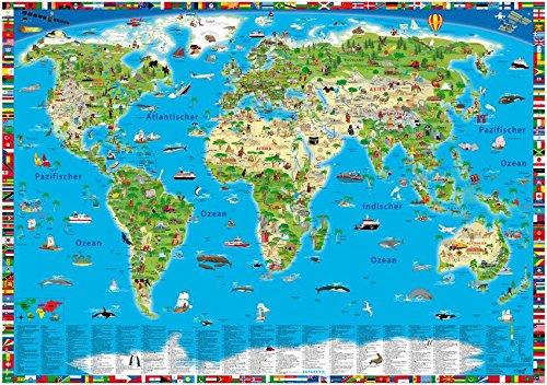 Illustrierte Weltkarte: Erlebniskarte Test