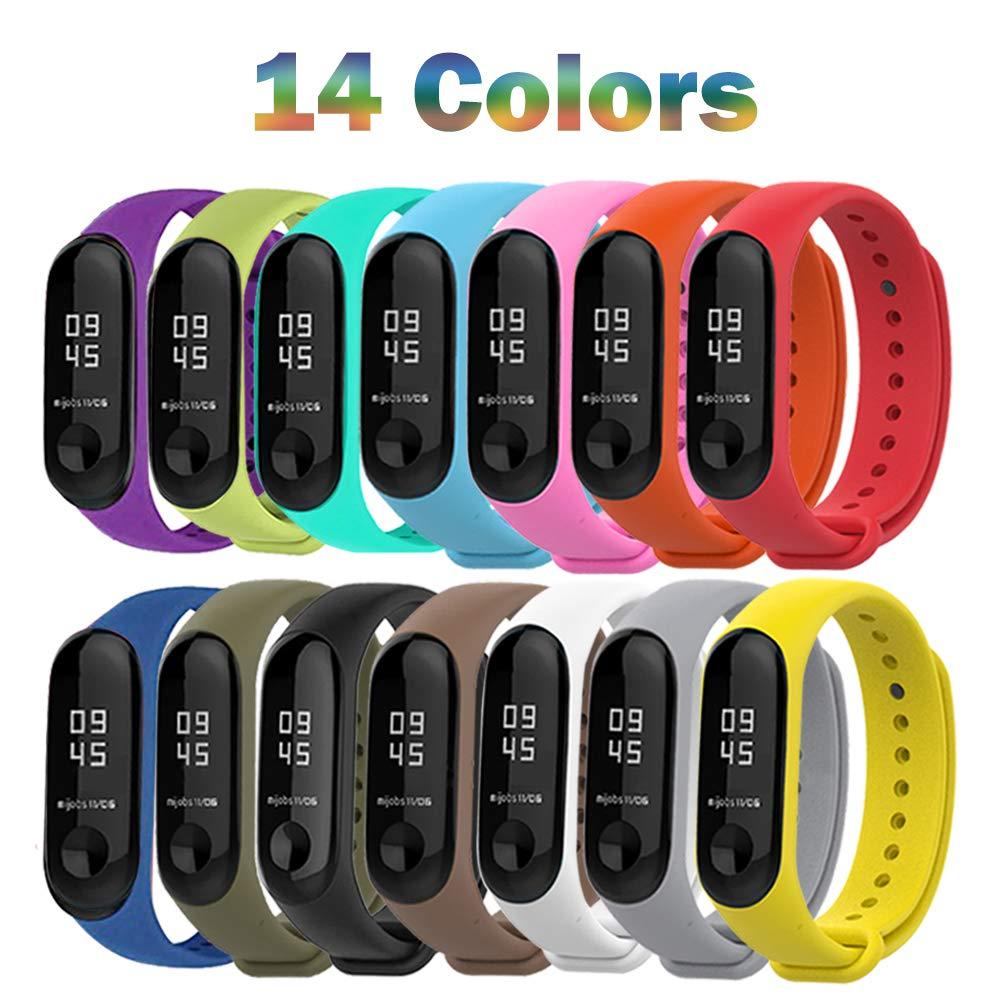 31231808633e ... Reemplazo Correas Reloj Silicona Banda para XIAOMI Mi Band 3-14 Colores  Compuesto. 🔍. Amazon Prime