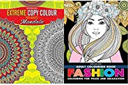 Extreme Copy Colour - Mandala + Fashion - Adult Colouring Book for Peace & Relaxation (Set of 2 Bo