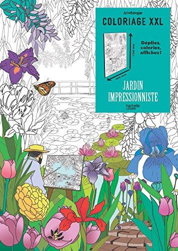Coloriage XXL Jardin impressionniste par Julie TERRAZZONI