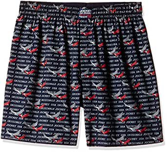 Jockey Men's Cotton Woven Boxer Shorts  (8901326130599_US56_Small_Print 01)