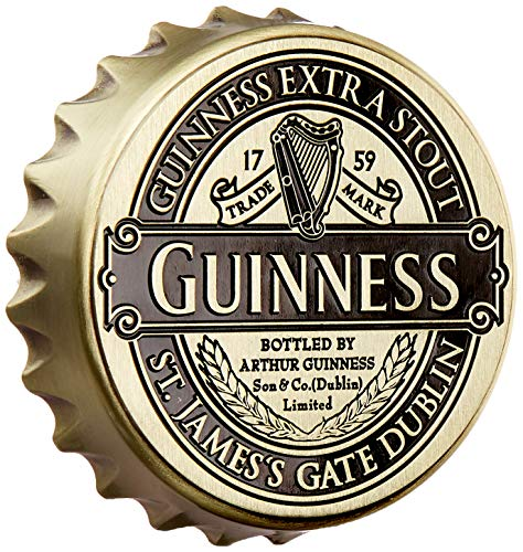 Guinness Screwcap Bottle Opener Magnet With Classic Collection Label Design (Guinness Flaschenöffner Magnet)