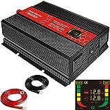 suonai 3000 W, Gleichstrom 12 V auf Wechselstrom 220 V/230 V/240 V modifierter Sinus-Wechselrichter (MCU, LED-Anzeige, f