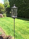 Stab Laterne Windlicht Teelichtstecker WMG Garten Teelichthalter Metall H 150