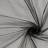 Fabulous Fabrics Glitzer Tüll – schwarz — Meterware ab