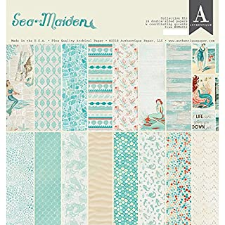 Authentique Sea Maiden ~ Paper Crafting 12 x 12 Paper Collection Kit