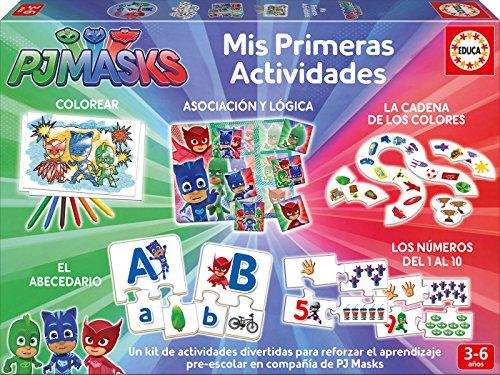 Educa Borrás-PJ Masks Mis Primeras Actividades, Multicolor (17709)