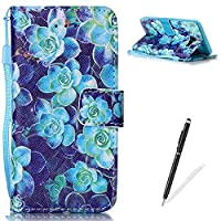 Samsung Galaxy J5 2016/J510FN Case,Feeltech MAGQI Premium Soft PU Leather Case Magnetic Closure Notebook Wallet Cover [With Free Stylus Pen] Colorful Painting Pattern Design Stand Function Cash Holder and ID Card Slot Slim Flip Protective Skin Shell With