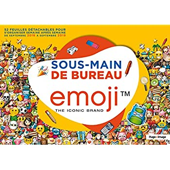 Sous-main de bureau Emoji 2018-2019
