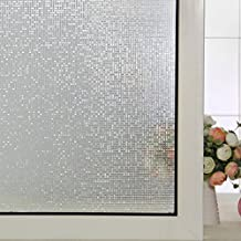 (90cm X 200cm)DuoFire No-adhesiva la Adsorción Electrostática Decorativo de Privacidad Película para Ventanas de Cristal Película de Vidrio Coloreado DL004