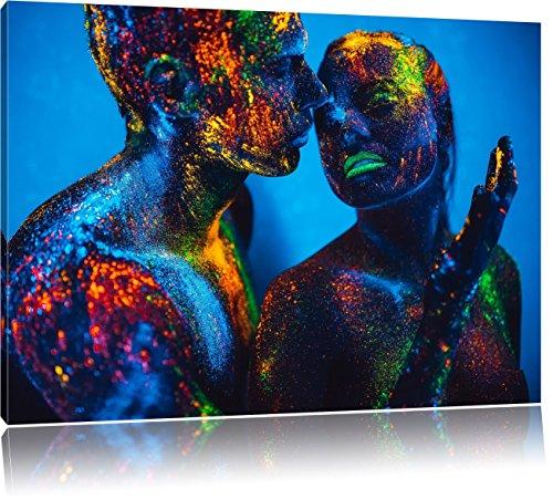 Le persone con polvere fluorescente, Formato: 60x40 su tela, XXL enormi immagini completamente Pagina con la barella, stampa d'arte sul murale con telaio, più economico di pittura o un dipinto a olio, non un manifesto o un banner,