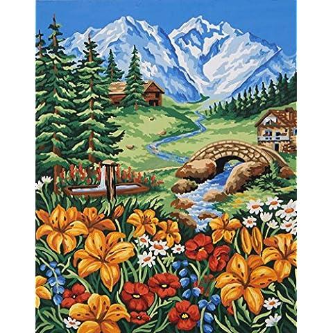 Primavera in montagna Tela stampata per tappezzeria