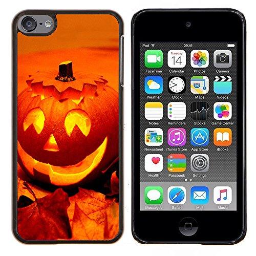 Graphic4You Halloween Allerheiligen Thema Kürbis Design Harte Dünn Hülle Tasche Schale Schutzhülle für Apple iPod Touch 6 (Halloween 6 Mp3 Thema)