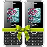 GLX W8, Basic Feature Mobile Phone, Combo Of 2 (White)