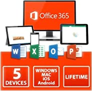 Office 365 Home Lifetime [Licensed to your name] for 5 PC/MAC 5 Smartphones/Tabs 5TB Storage