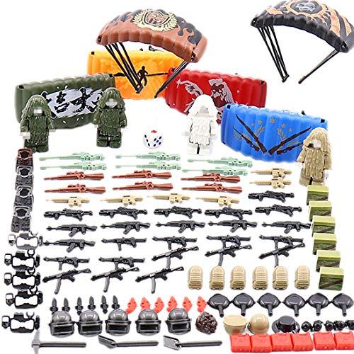 NURICH 240St. Custom Waffen Set für Soldaten Mini Figuren SWAT Team Polizei, passen zum Lego (Lego-mini-sets)
