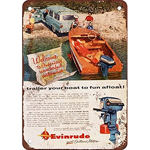 1956Evinrude motori fuoribordo Look Vintage Riproduzione in