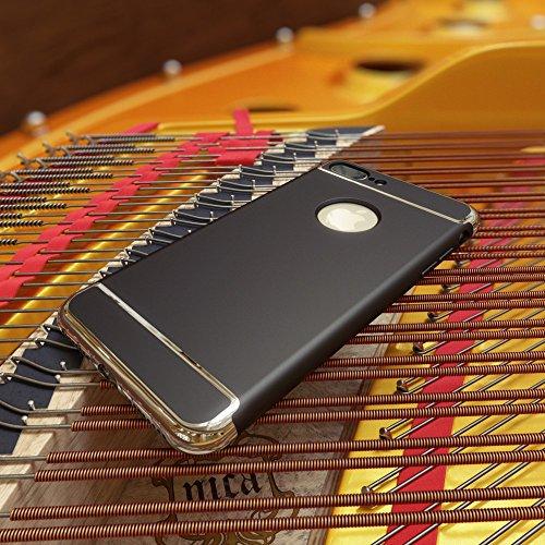 iPhone 8 Plus / 7 Plus Coque Protection de NICA, Hard-Case Housse Rigide Ultra-Fine Mat 3 Parties Etui, Slim Cover Bumper Anti-choc Mince pour Telephone Portable Apple iPhone 7+ / 8+ - Noir Noir