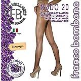 Franco Bombana Wellness COLLANT di Bellezza, Nudo 20 & Lavanda   Velatissimo con LAVANDA Rilassante e Tonificante - Calze da Donna, Colore Naturel, Taglia II