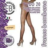 Franco Bombana Wellness COLLANT di Bellezza, Nudo 20 & Lavanda | Velatissimo con LAVANDA Rilassante e Tonificante - Calze da Donna, Colore Naturel, Taglia XL