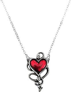 Devil Heart Genereux Necklace Sinner Gothic Love Alchemy England Pewter Gift