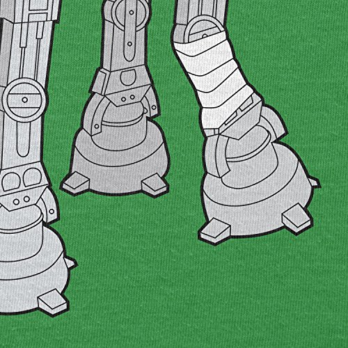 NERDO - Doggy AT-AT - Damen T-Shirt Grün