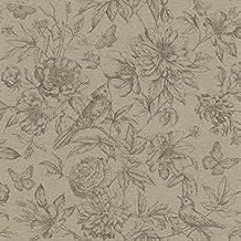 Papel pintado flores y pajaros rasch for Papel pintado amazon
