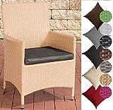 CLP Polyrattan-Gartenstuhl Julia mit robustem Untergestell aus Aluminium I Gartenstuhl mit Sitzkissen I erhältlich Rattanfarb