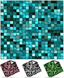 30 Turquoise - Self Adhesive Mosaic Wall Tile Decals For 150mm (6 inch) Square Tiles -(P3)- Simply peel and stick on tiles to completely transform your kitchen, bathroom or wherever you have tiles - DURABLE: Oil-proof, Waterproof, Heat Resistant and Bleach Resistant -- Very Realistic Looking Stick On Wall Tiles Transfers. THESE ARE TOP QUALITY FAST SELLING Bathroom Tile Stickers \ Kitchen Tile Stickers - 1000s SOLD - FACTORY DIRECT PRICE, No Middleman- (Turquoise, Full Pack of 30)