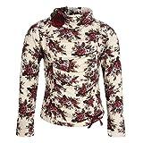 Cutecumber Girls Sweater Knit Floral Printed Plum Top -(2287A-PLUM-30)