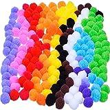 Pompons für Handwerk und Hobbybedarf 0,9 Zoll, 200 Stück, Mehrfarbig