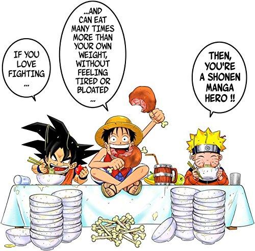 Pull Manga - Parodie DBZ et Naruto et One Piece - Traduction Anglais - Pull Noir - Haute Qualité Noir