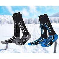 EMAGEREN 2 Pairs Men Ski Socks High Performance Thermal Snow Skiing Socks Warm Long Hose Hiking Socks Snowboard Socks…