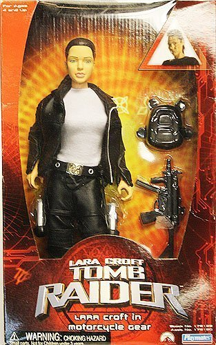 Lara Croft Tomb Raider Lara Croft in Motorcycle Gear by playmates toys inc. (English Manual)