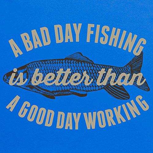 Bad Day Fishing T-Shirt, Herren Royalblau