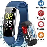 HOFIT Fitness Tracker,Orologio Braccialetto Smartwatch Activity Tracker Impermeabile IP68,Pressione Sanguigna Cardiofrequenzimetro,Contapassi SmartWatch Smartband per Uomo Donna