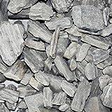 PALIGO Steinrinde Steinmulch Deko Kies Splitt Gneis Gneisel Natur Mulch Stein Garten Dekor Grob 10-100mm 20kg x 15 Sack 300kg / 1 Palette Galamio®
