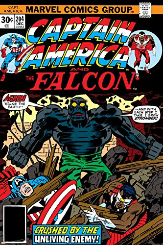 PALOMA NIEVES Captain America and The Falcon No.204 Cover: Captain America, Falcon and Agron Fighting Poster by Jack Kirby 24 x 36in -
